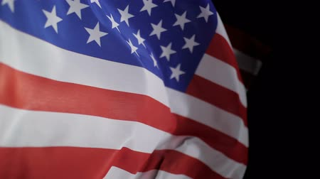 veteran's day : Waving of United States of America flag for Independence Day or Memorial Day.
