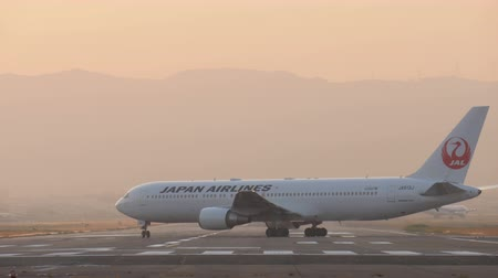 搭乗 : Japan Airlines boeing 767 (JA613J) passenger plane on runway.