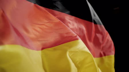 Germany flag waving slow motion.