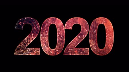 countdown leader : 2020 text with fireworks celebrate with alpha.