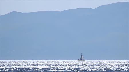 aegean sea : sailing boat on calm sea