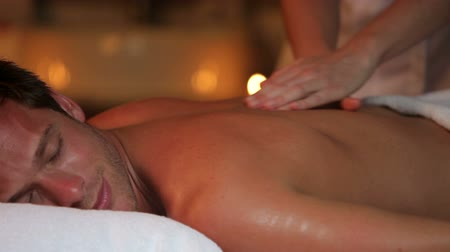 massages : Man Having Massage In Spa