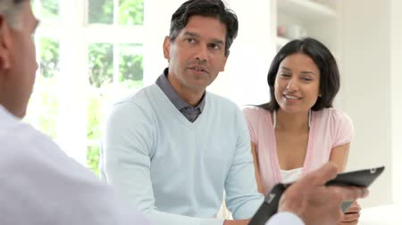 koca : Indian Couple Meeting With Financial Advisor At Home