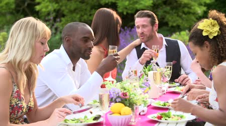 друзья : Friends Enjoying Outdoor Dinner Party Together