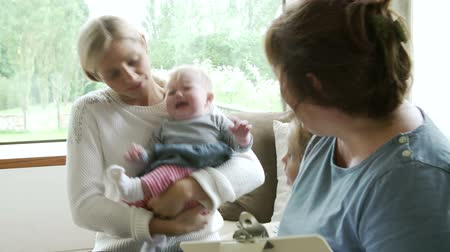 newborn child : Health Visitor Talking To Mother With Young Children
