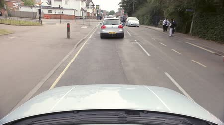 anglia : Time Lapse Sequence Of Driving Along City Street
