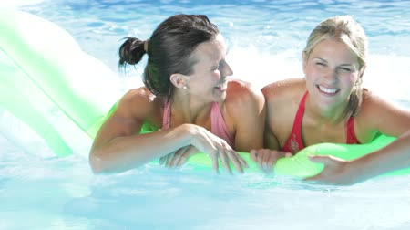 holidays : Two Women On Holiday In Swimming Pool