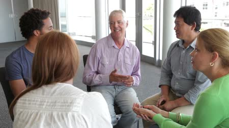 counselling : People Having Discussion In Support Group Stock Footage