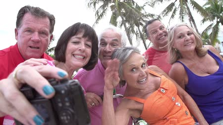 elliler : Group Of Senior Friends Taking Selfie On Bicycle Ride
