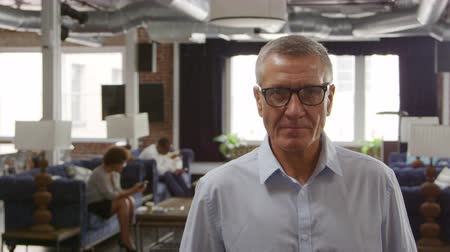 exposed brickwork : Portrait Of Mature Businessman In Office Shot On R3D