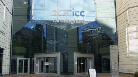 icc : Exterior Of The Birmingham International Convention Centre Stock Footage