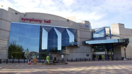 workman : Exterior Of The Birmingham Symphony Hall Stock Footage