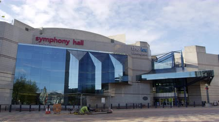 ремонт : Exterior Of The Birmingham Symphony Hall Стоковые видеозаписи