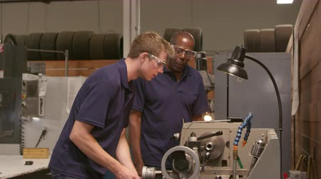 machinist : Engineer Training Male Apprentice On Lathe Shot On R3D