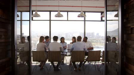 doorway : Creative business team at a meeting in a boardroom