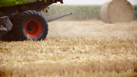 máquina : Agricultural tractor sowing and cultivating field Stock Footage