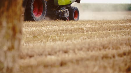 agronomist : Tractor working on field. Stock Footage