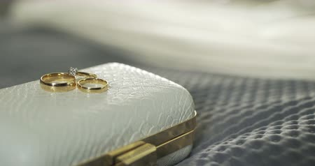 compromisso : Wedding Rings in Decorated Box 4K