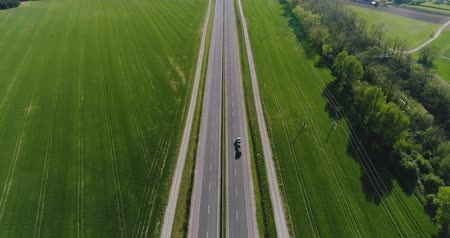 passero : Car Passing Highway Aerial View