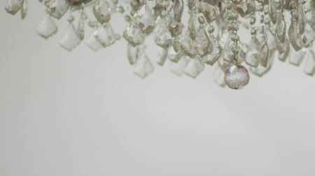 Close up of luxuey chandelier Stock Footage