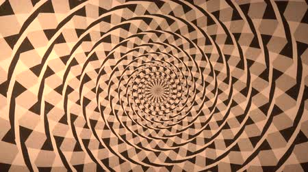 hipnoza : Spiral with Triangle Background This spiral with triangular design is an abstract usually seen on techno. Wideo