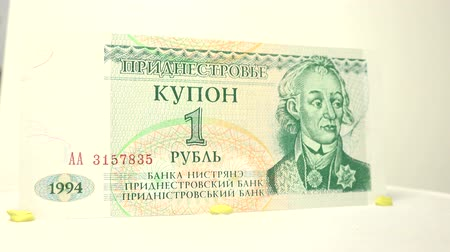 примечание : One Dollar of Transnistria Have a closer view of one dollar bill of Transnistria in a white background.