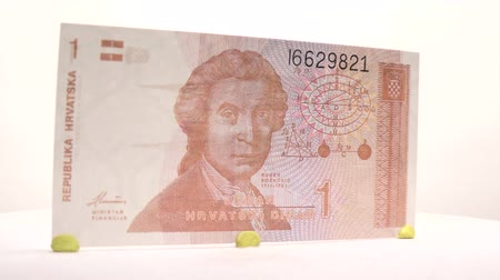 примечание : 1 Dinara Paper Bill Have your collection added of one dinara banknote from Croatia.