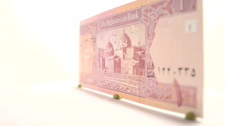 afghani : 1 Afghani Bill Whole view of one Afghani banknote, currency of Afghanistan.