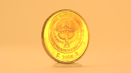 odzież : 1 Som of Kyrgyzstan Coin The National emblem of Kyrgyzstan depicted in Kyrgyzstani som coins.