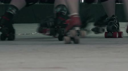 skate : Roller Skates Closeup - Battle Royale Stock Footage