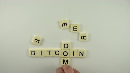 manicure : Bitcoin Freedom - Spelled Out With Letter Tiles