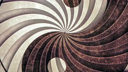 sedative : Yin Yang Spiral Eddy Animation Background . Perfect seamless loop background and special effect psychoactive footage in full color of rotational design and pattern that create a spinning optical illusion vortex that can have mesmerising hypnotic trance an