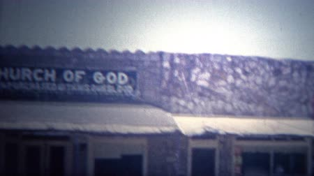 sinematografi : ARKANSAS, USA - 1966: Church Of God historic faith building.