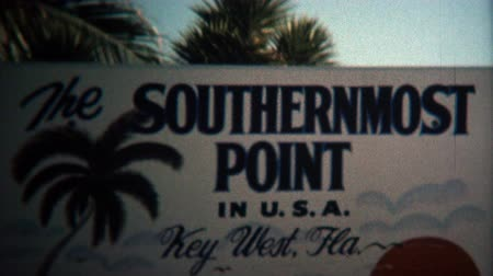 korszak : 1973: Southernmost place in the Continental USA busy local marketplace.