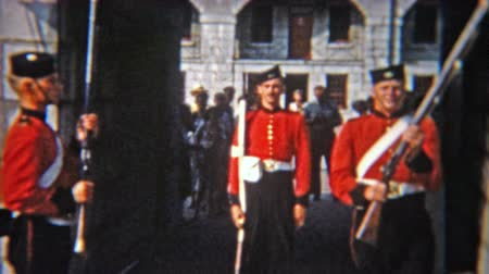 valóság : 1956: Military soliders change of guard ceremony at the important castle.