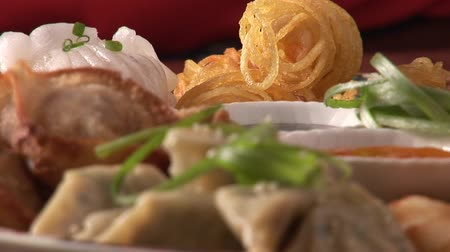 wontons : Asian appetisers Stock Footage