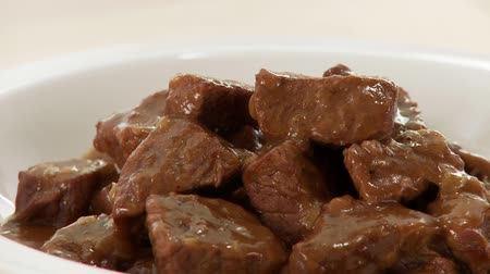 kavurma : Beef goulash Stok Video