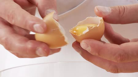 basic steps : Eggs being separated Stock Footage