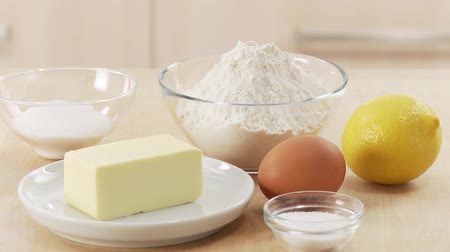 limon : Ingredients for shortcrust pastry Stock Footage