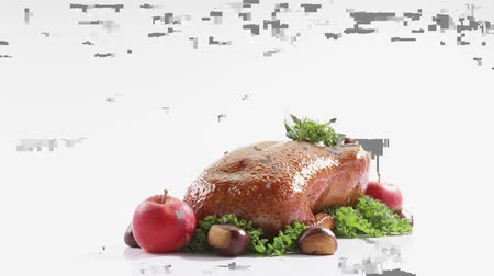entire : Roast duck with apples and chestnuts