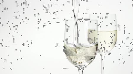 poured out : Pouring white wine