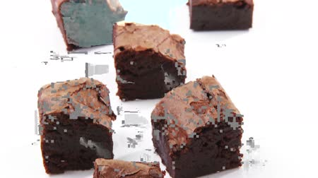 brownie de chocolate : Brownies Archivo de Video