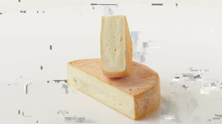 outlinable : Pieces of red washed rind cheese