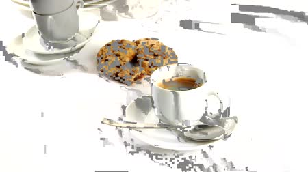 specialties : A cup of caffe crema with cookies