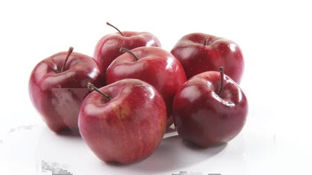 outlinable : Red apples arranged in a circle Stock Footage