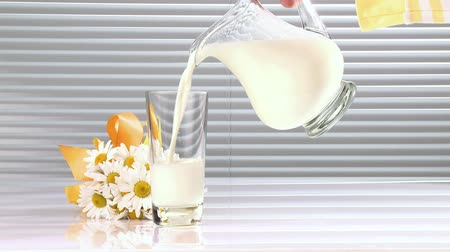 poured out : Pouring a glass of milk