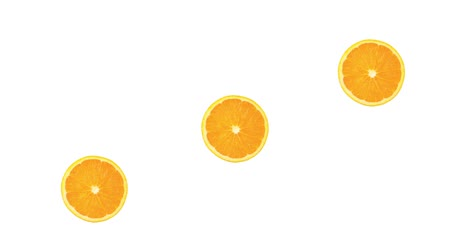 outlinable : Three slices of orange Stock Footage