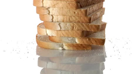 outlinable : A stack of sliced bread Stock Footage