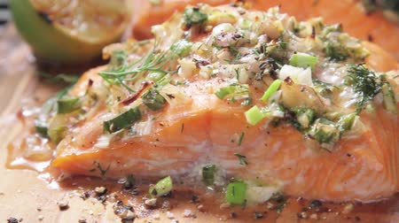 specialties : Cedar wood-grilled salmon