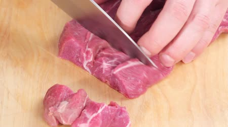basic technique : Beef being diced